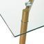 Jedálenský Stôl Vinnie - hnedá/číre, Moderný, kov/sklo (140/80/76cm) - Modern Living