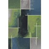 Webteppich Mike 160x230 cm - Blau/Grün, KONVENTIONELL, Textil (160/230cm) - Ombra