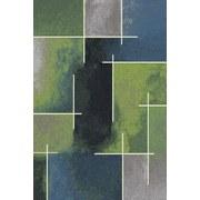Webteppich Mike 160x230cm - Blau/Grün, KONVENTIONELL, Textil (160/230cm) - OMBRA