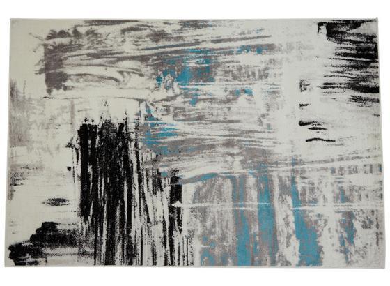 Webteppich Blau / Grau / Weiß / Schwarz Metro 120x170 cm - Blau/Schwarz, KONVENTIONELL, Textil (120/170cm) - Ombra