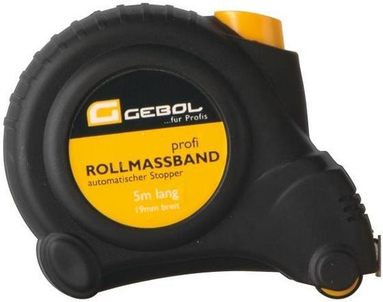 Rollmaßband 5 Meter - Gelb/Schwarz, KONVENTIONELL, Kunststoff (500cm) - VENDA