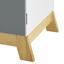 Komoda Pre Deti Brian - farby borovice/biela, Moderný, kov/drevo (60/70/34cm) - Mömax modern living
