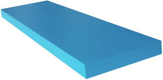 Regál Nástěnný Giga - petrolej, Moderní, dřevěný materiál (80/3,8/23,50cm)