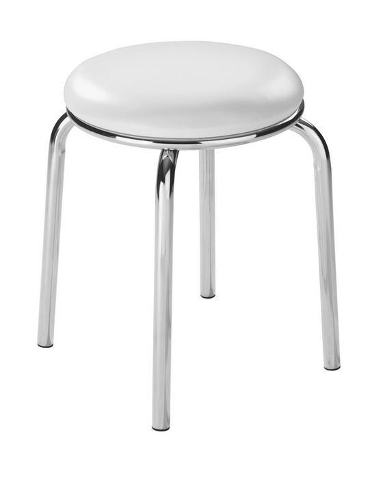 Taburet Pub - bílá, Konvenční, kov/umělá hmota (46/45cm)