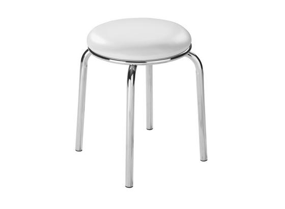 Ülőke Pub - Fehér, konvencionális, Műanyag/Fém (46/45cm)