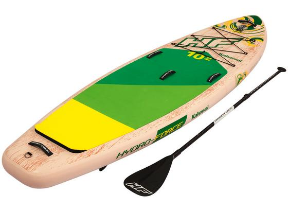 Stand-Up Paddle Board Hydro-force Kahawai - Gelb/Weiß, MODERN, Kunststoff/Metall (310/86/15cm) - Bestway