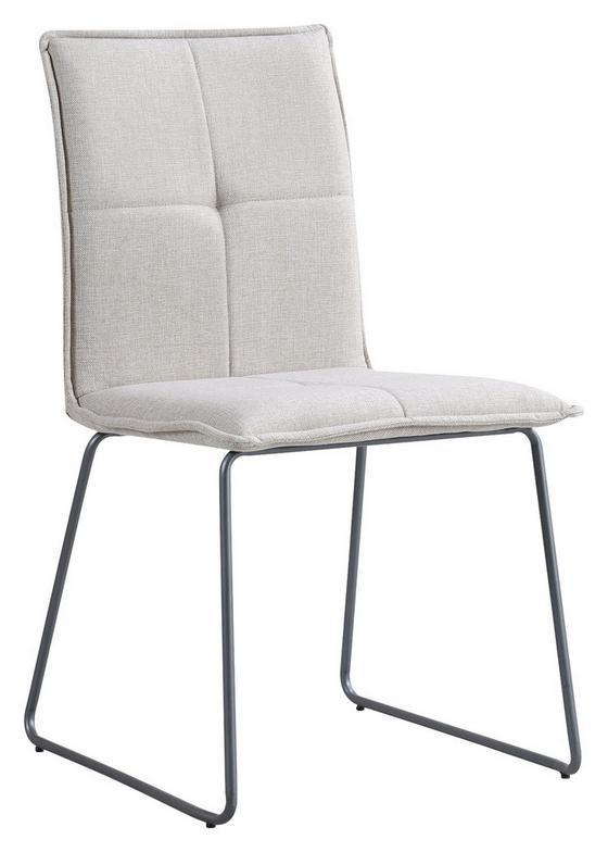 Stuhl Bravo Taupe - Taupe, MODERN, Textil/Metall (50/96/56cm) - Luca Bessoni