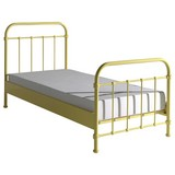 Kinder-/Juniorbett New York 90x200 cm Gelb - Gelb, ROMANTIK / LANDHAUS, Holzwerkstoff/Metall (90/200cm) - MID.YOU
