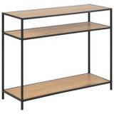 Konsolentisch Seaford B: 100 cm Eichefarben - Eichefarben/Schwarz, Trend, Holzwerkstoff/Metall (100/79/35cm) - Carryhome