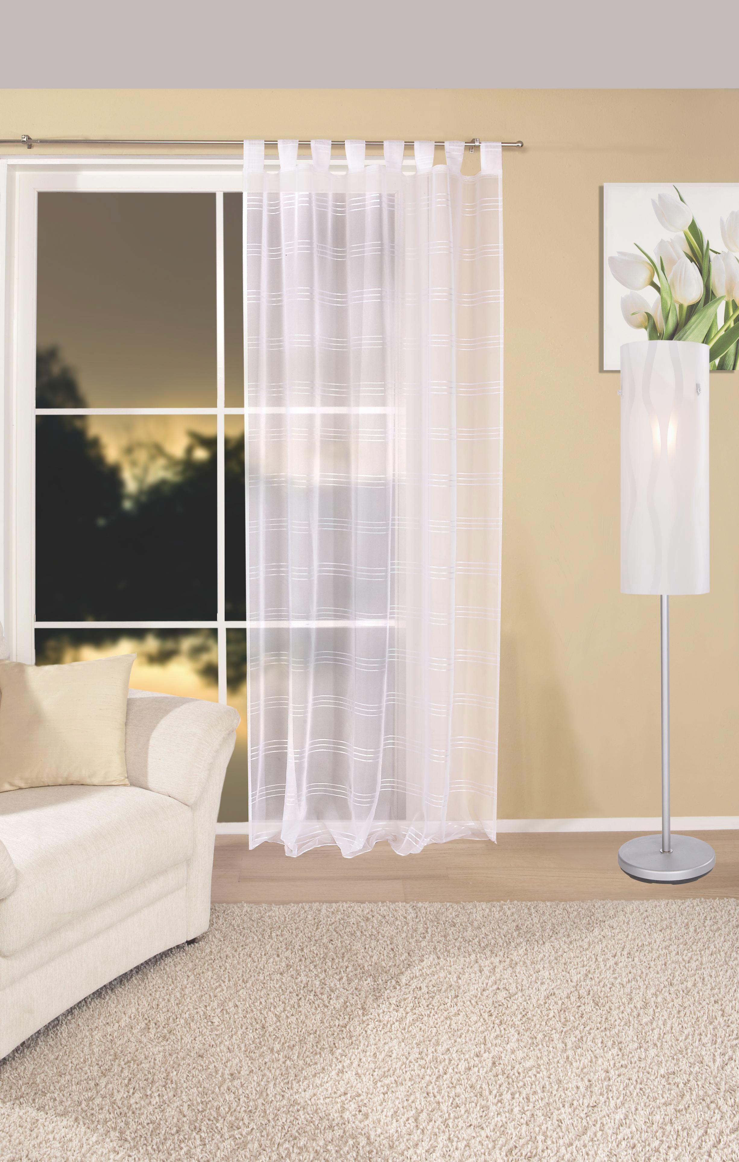 Kombi Készfüggöny Halina - fehér, konvencionális, textil (145/245cm) - LUCA BESSONI