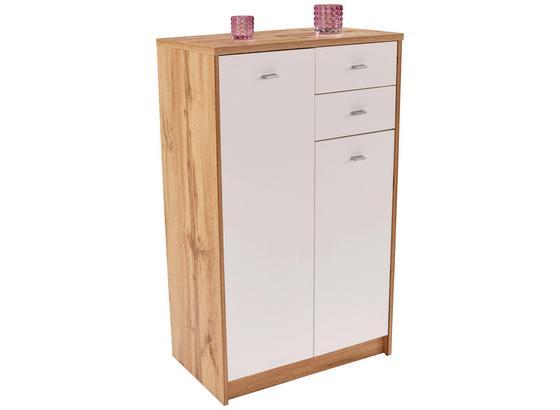 Komoda 4-you New Yuk08 - bílá/barvy dubu, Moderní, kompozitní dřevo (74/111,4/34,6cm)