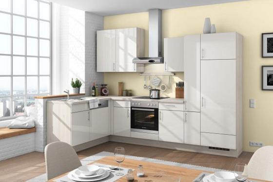Eckküche florenz weiß grau lifestyle holzwerkstoff 175 305cm