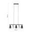 Závesná Lampa Elanie 84/149cm, 60 Watt - čierna/sivá, Štýlový, kov/textil (84/149cm) - Premium Living