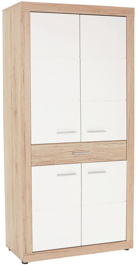 Šatní Skříň Malta - bílá/barvy dubu, Moderní, dřevěný materiál (95/196,8/36cm)