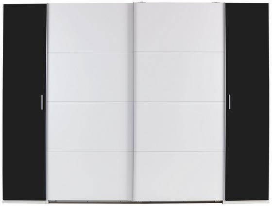 Schwebetürenschrank Virgo 2 - Graphitfarben/Weiß, MODERN, Holzwerkstoff (270/210/65cm)