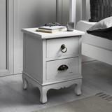 Nočný Stolík Lewis - biela, Moderný, drevo (34/45/34cm) - Modern Living
