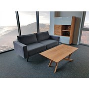 Zweisitzer-Sofa Thomas Polyester - Grau, Basics, Textil (148/90/94cm)
