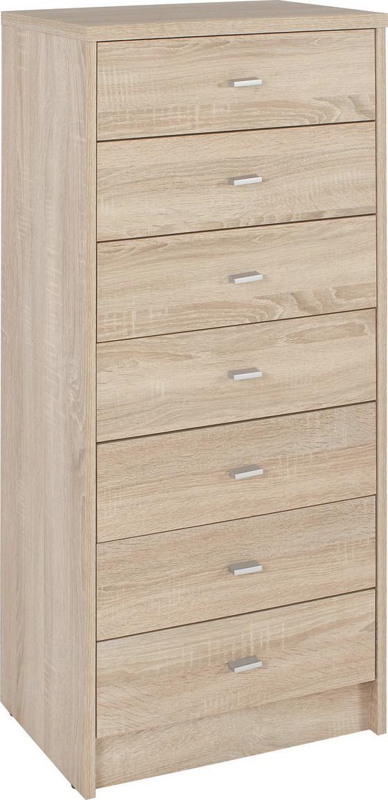 Komoda 4-you Yuk11 - farby dubu, Moderný, kompozitné drevo (50/111.4/35cm)