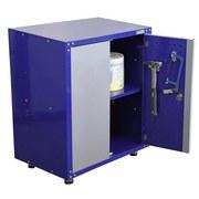 Werkstattschrank 2-türig 67cm Grau/blau - Blau/Grau, KONVENTIONELL, Metall (67/84,5/46,5cm) - Erba