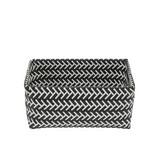 Aufbewahrungskörbchen Abbeygail L - Schwarz/Weiß, MODERN, Kunststoff (27/20/13cm) - Luca Bessoni