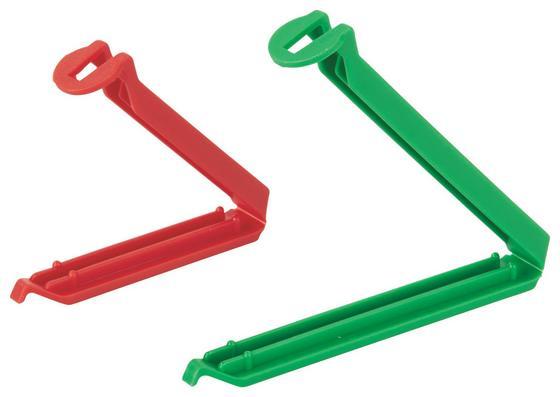 Hűtőzsacskó Csipeszek 10db - multicolor, konvencionális, műanyag