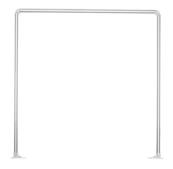 Zuhanyfüggöny Rúd Hilde - Ezüst, konvencionális, Fém (91cm)
