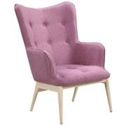 Relaxsessel B: 87 cm Rosa - Naturfarben/Rosa, Basics, Textil (87/98/71cm)