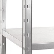 Steckregal Shelf 80/151/40 Grau - Grau, KONVENTIONELL, Metall (80/151/40cm)