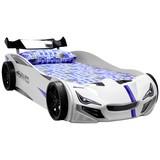 Kinder-/Juniorbett Superdrift Weiss 90x200 cm - Weiß, Basics, Holzwerkstoff/Kunststoff (90/200cm)