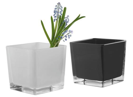 Držiak Na Čajové Sviečky Adele - čierna/biela, sklo (10/10/10cm) - Mömax modern living