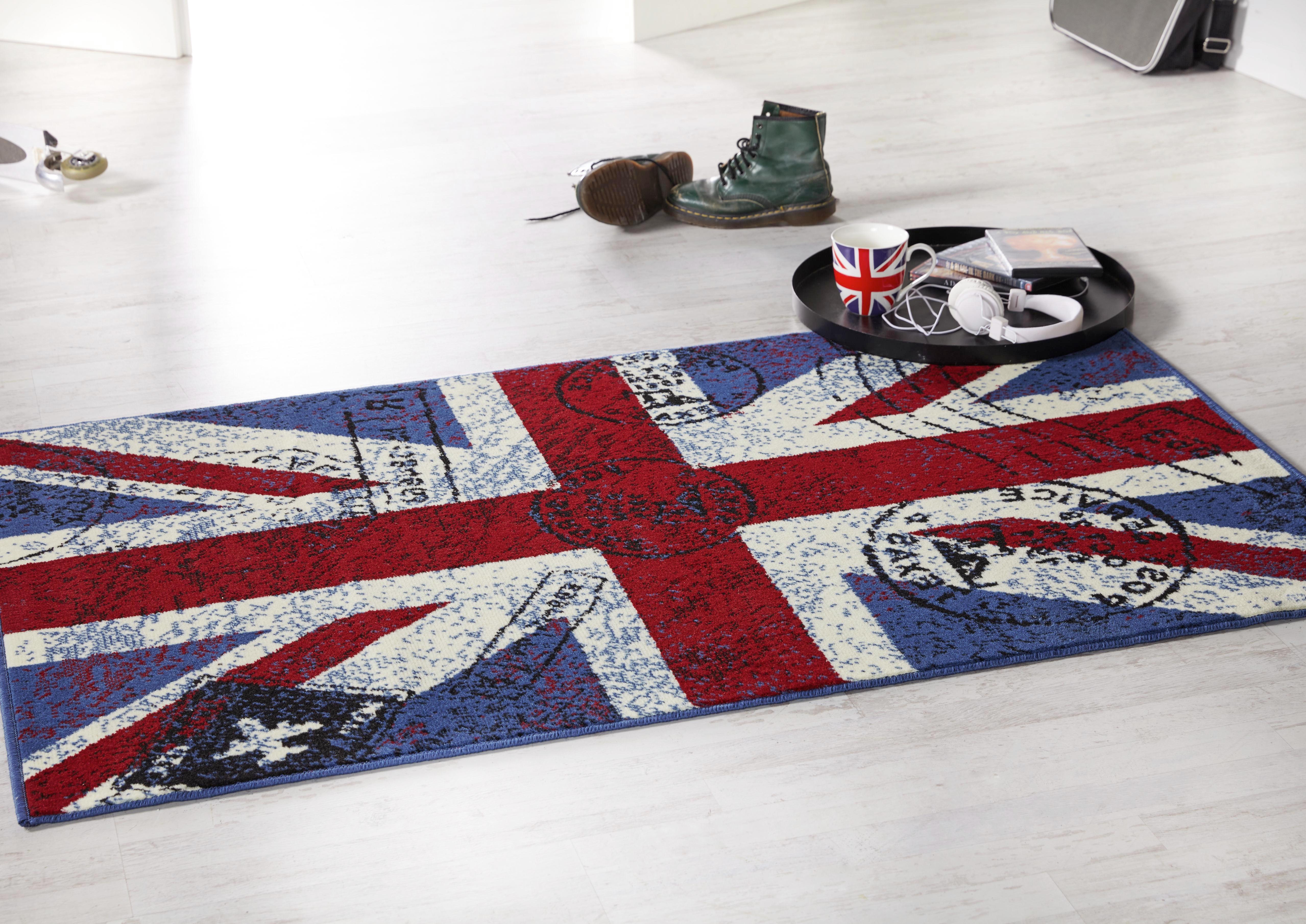 Szőnyeg Great Britain - piros/kék, konvencionális, textil (100/160cm)