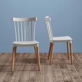 Stolička Celine - biela/farby buku, Moderný, drevo (43,5/82/51,5cm) - Modern Living
