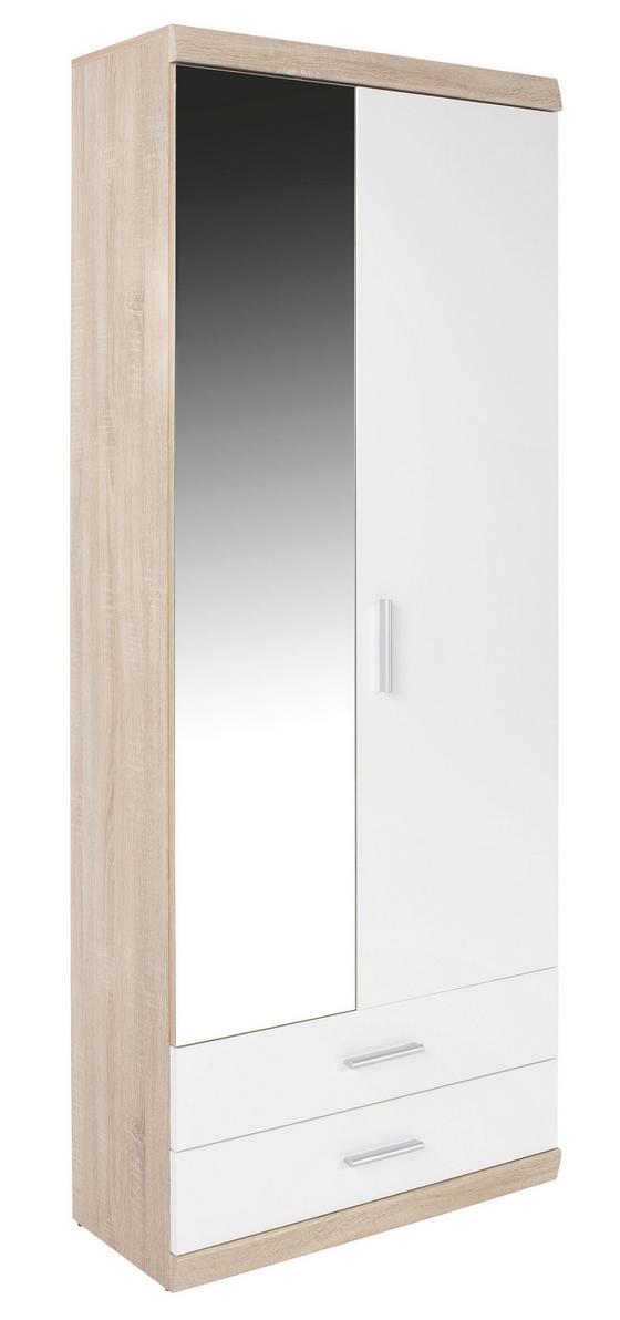 Előszoba Szekrény Imperial - tölgy színű/fehér, modern, faanyagok (80/196/36cm)