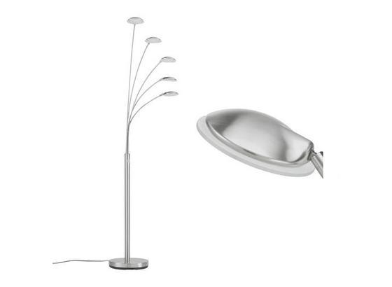 Led Stojacia Lampa Boris V: 179cm, 5x5,6 Watt - biela/strieborná, Konvenčný, kov/plast (28/179cm) - Mömax modern living