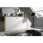Schrankklappbett Albero 214 cm Eiche/Weiß - Eichefarben/Weiß, MODERN, Holzwerkstoff