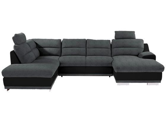 Sedací Souprava Seaside - šedá/černá, Konvenční, textil (218/334/165cm) - Luca Bessoni