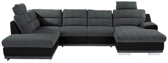 Sedací Souprava Seaside - šedá/černá, Konvenční, textilie (218/334/165cm) - Luca Bessoni