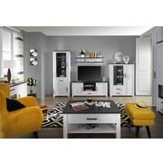 Wandboard Provence - Wengefarben/Weiß, ROMANTIK / LANDHAUS, Holzwerkstoff (125,7/40/21,6cm) - James Wood
