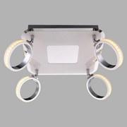 LED-spotleuchte Idaho,4-flammig - Chromfarben, MODERN, Kunststoff/Metall (30/30/19cm)