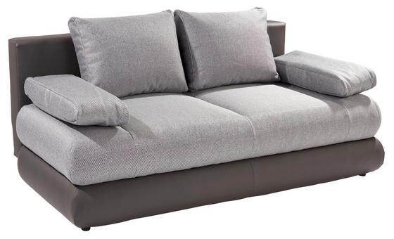 Kanapéágy Clipso - Sötétszürke/Ezüst, Basics, Textil (212/93/90cm)