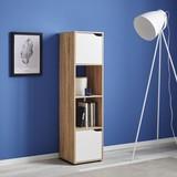 Regál Lilja - farby dubu/biela, Moderný, drevený materiál/drevo (30/120/29,5cm) - Mömax modern living