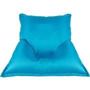 Sitzsack Outdoor XL Blau, 170x130 cm - Blau/Weiß, MODERN, Textil (170/130/40cm) - Ombra