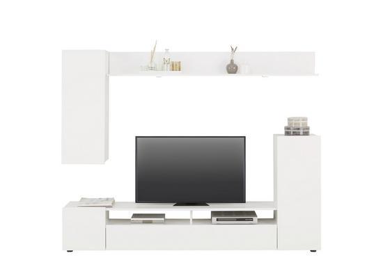 Obývací Stěna Dos -based- - bílá, Moderní, kompozitní dřevo (208/165/33cm) - Based