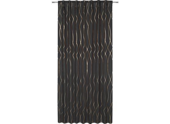 Zatemňovací Závěs Glamour - měděné barvy/černá, Lifestyle, textil (140/245cm) - Mömax modern living