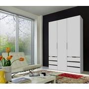 Drehtürenschrank Level 36a 150cm Weiß - Weiß, MODERN, Holzwerkstoff (150/216/58cm)