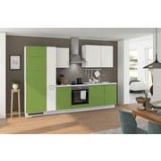 Küchenblock Turin 310 cm Kiwi/Weiß - Weiß/Grau, LIFESTYLE, Holzwerkstoff (310cm) - Qcina