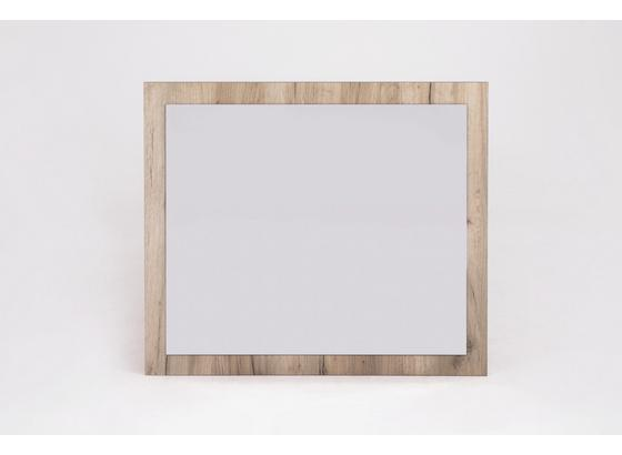 Wandspiegel Basti B: ca. 80cm Eichedekor - Eichefarben, MODERN, Glas/Holz (80/70/2cm) - Livetastic