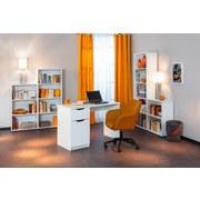 Regal Arco B 60cm, Weiß - Weiß, Basics, Holzwerkstoff (60/145/30cm) - Livetastic