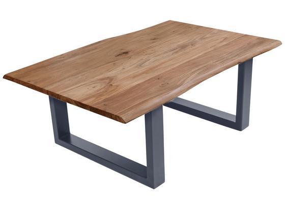 Couchtisch B: 120 cm Braun/Silberfarben - Silberfarben/Naturfarben, Basics, Holz/Metall (120/45/80cm)