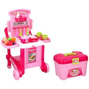 Kinderküche Eddy Toys 3in1 - Pink, MODERN, Kunststoff (41/15/62cm)